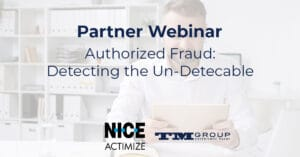 Partner webinar: Authorized Push Payment Detecting Fraud: Detecting the un-detecable