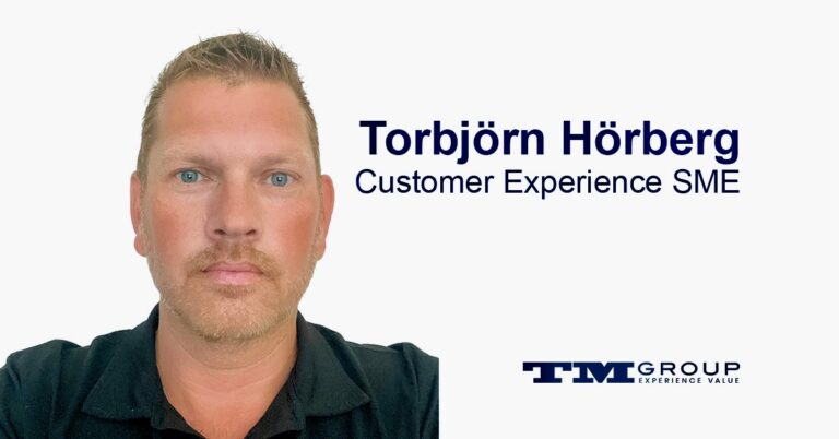 Torbjörn Hörberg is the Subject Matter Expert for all Customer Experience solutions at TM Group