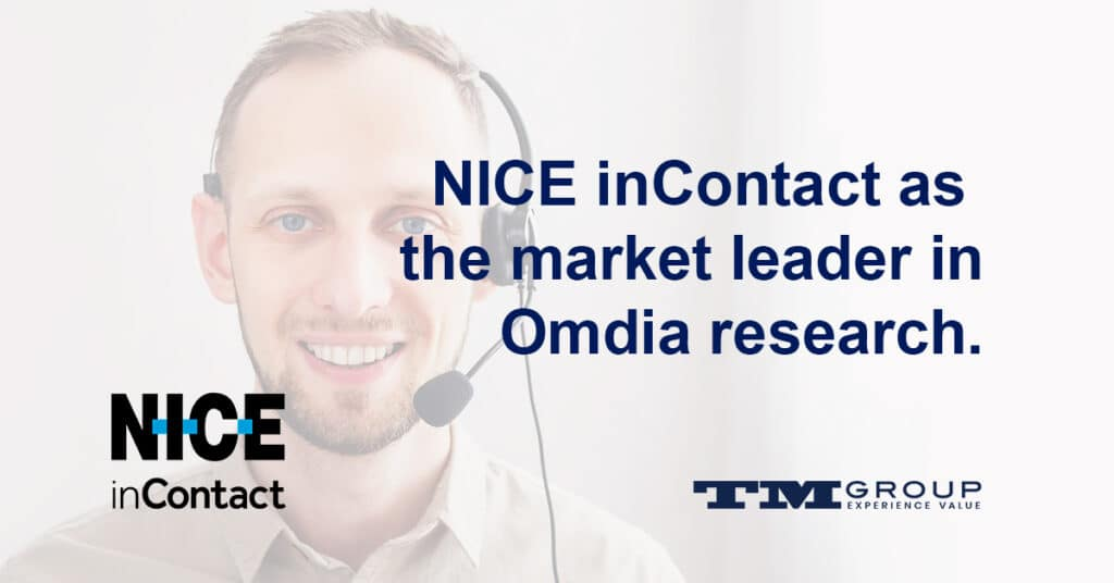 NICE inContact as the market leader in Omdia research