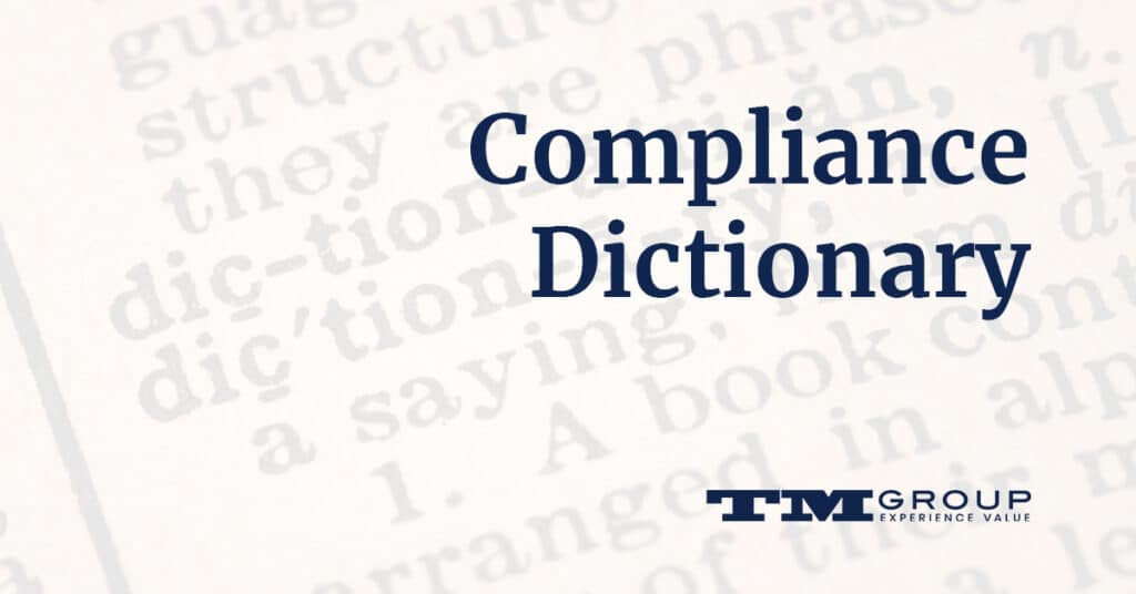 Compliance Dictionary