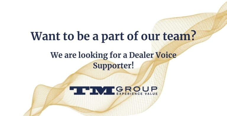 Want to be a part of our team? we are looking for a Dealer Voice Supporter